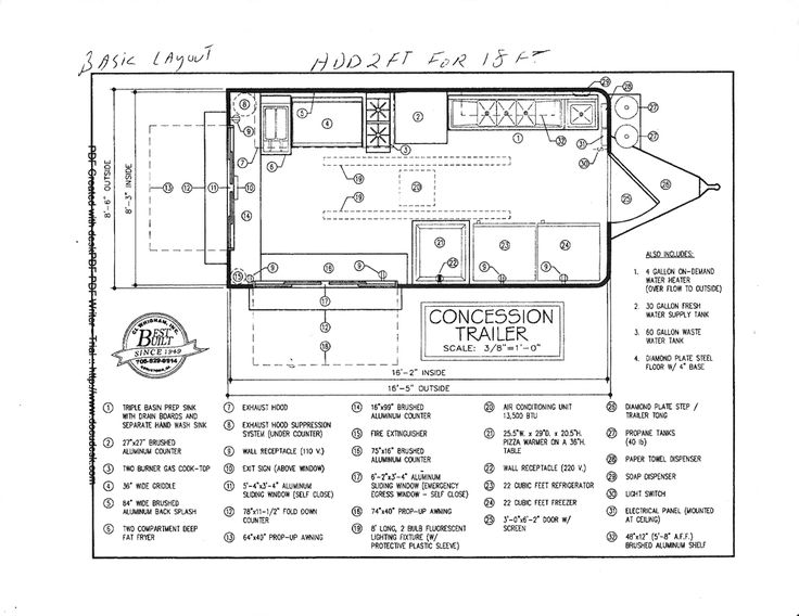 plan1.jpg 1,000×773 pixels (With images) Food truck