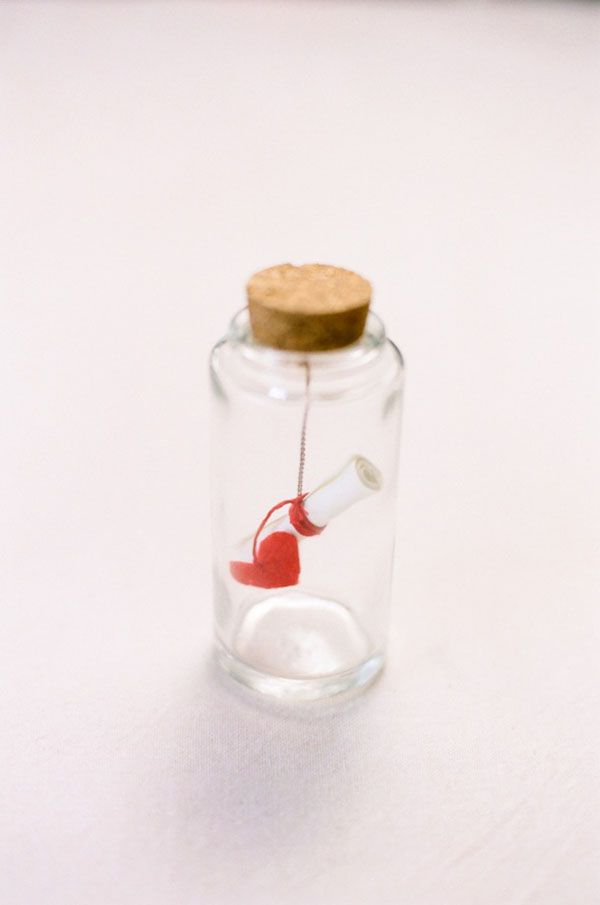 heart message in a bottle diy