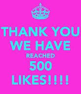 many thanks to my friends on facebook. with your help my page reaches 500 likes ... ;*