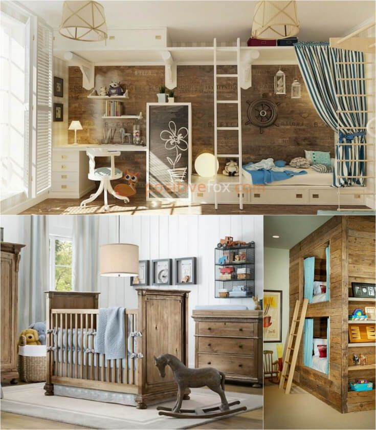 Country Style Kids Rooms Interior Design.Explore more Country Style Kids Rooms on https://positivefox.com #smallspaceskidsrooms #countrykidsroom #kidsroomideas #countrykidsroomideas #interiordesign #collage #homeideas #homesmallspaces #smallspaces #countrydesignideas #countrykidsroom #countryinterior #woodenkidsroom #woodinteriordesign