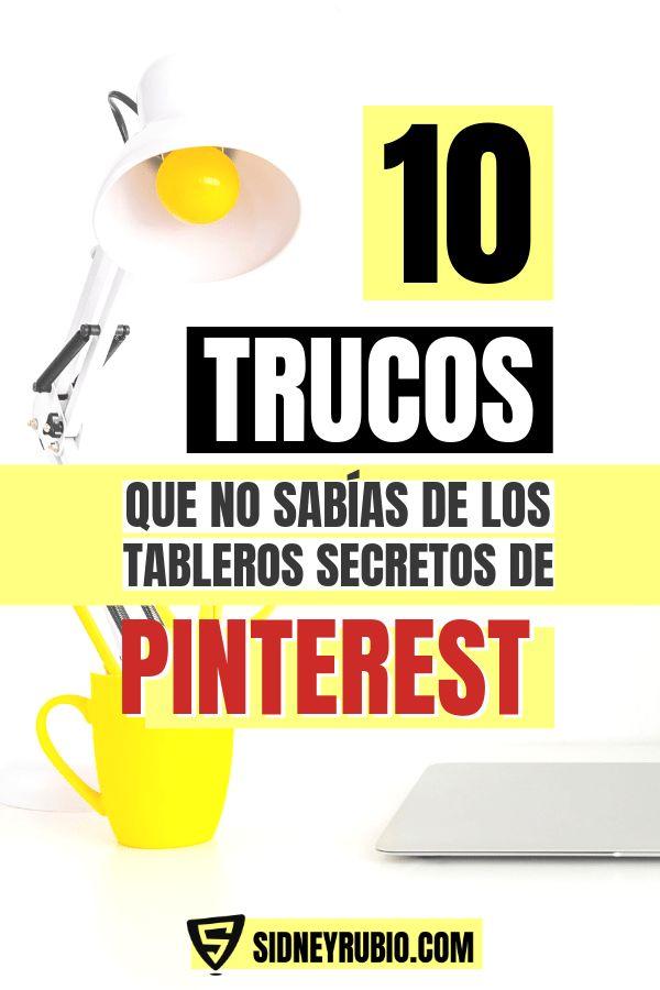 【10 TRUCOS】 que seguro no sabías, de los TABLEROS SECRETOS de Pinterest 🥇 Cómo usar Pinterest