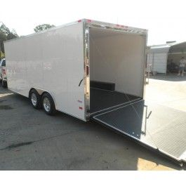 NEW 8.5 X 18 4 WHEELER SNOWMOBILE CAR HAULER BIKE ENCLOSED TRAILER 7000LB | 18 CAR HAULER ENCLOSED TRAILER | $6,599.00