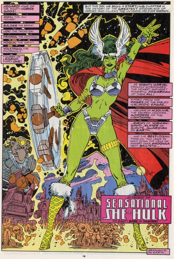 """The Mighty Babe of Thunder!"" - Asgardian She-Hulk by Walt Simonson"