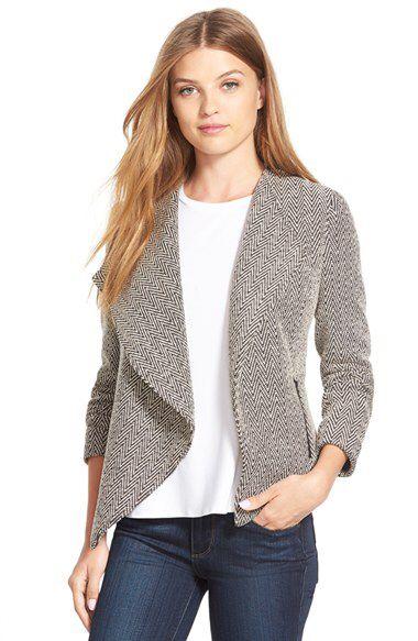 Halogen® Halogen® Cascade Front Jacket (Regular & Petite) available at #Nordstrom