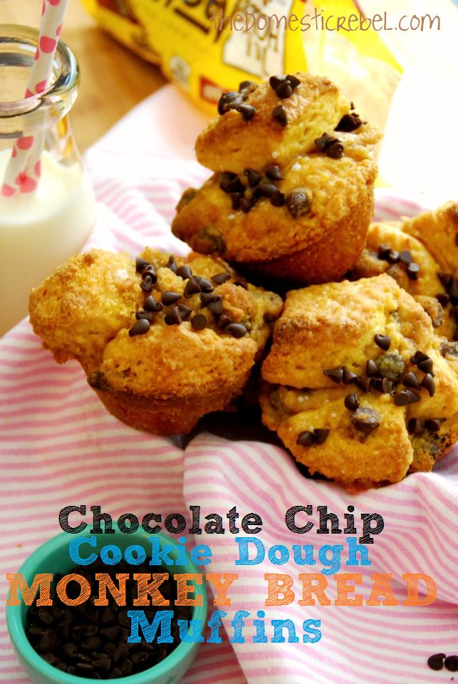 @Lindsey Carter    @Sawyer Poitra    Everything wonderful -- rolled up in one!!!!!!!    Chocolate Chip Cookie Dough Monkey Bread Muffins
