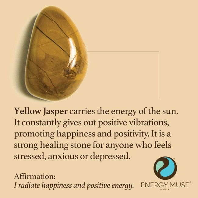 Yellow Jasper carries the energy of the sun. It constantly gives out positive vibrations, promoting happiness and positivity. It is a strong healing stone for anyone who feels stressed, anxious or depressed #jasper #healing #crystals