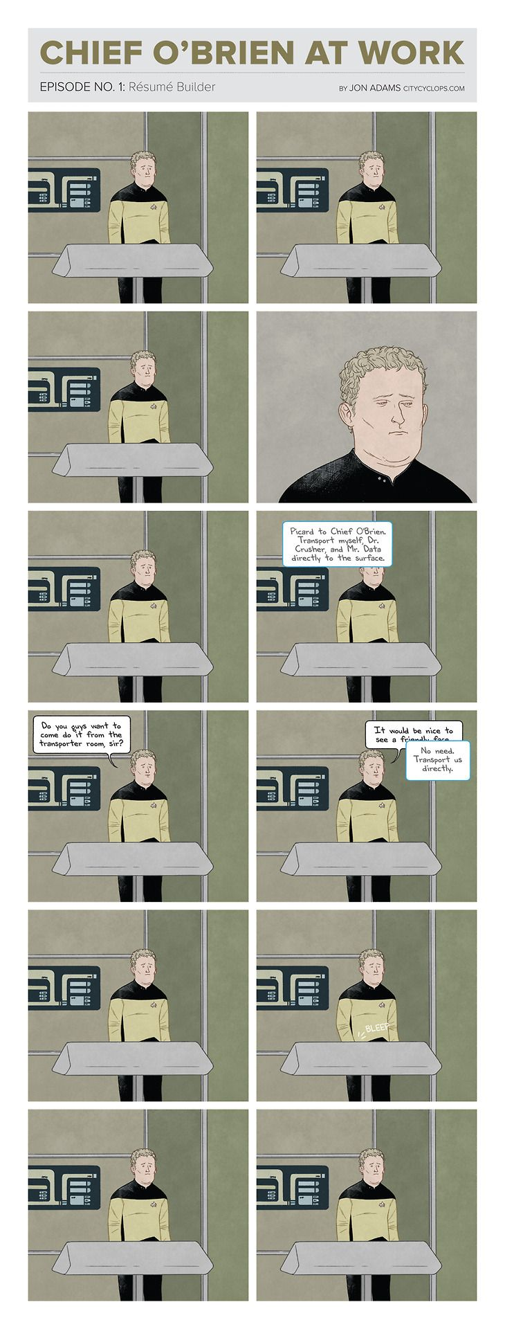 Mining the pathos of lonely Chief O'Brien from the Next Generation.