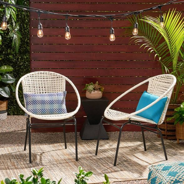 Java 2pk Faux Rattan Club Chair Black Christopher Knight Home In 2020 Modern Patio Modern Outdoor Modern Seating