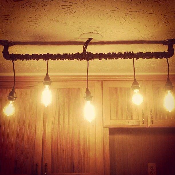10 Light Diy Mason Jar Chandelier Rustic Cedar Rustic Wood: DIY Rustic Home Track Lighting For Kitchen Made With