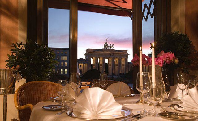 View from the Restaurant Quarré - Hotel Adlon Kempinski Berlin
