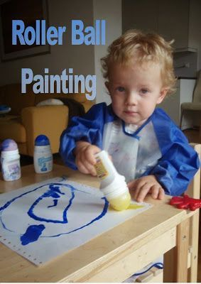 March Break Ideas - making paint roller out of recycled deodorant containers