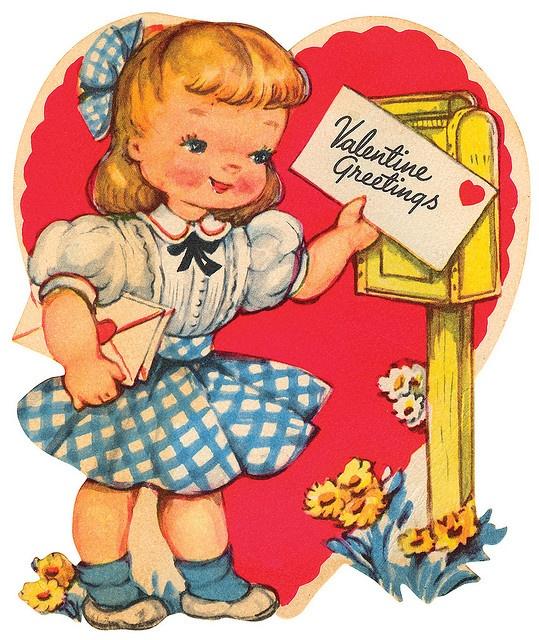 85 best Vintage valentine Cards  Mail images on Pinterest  Big