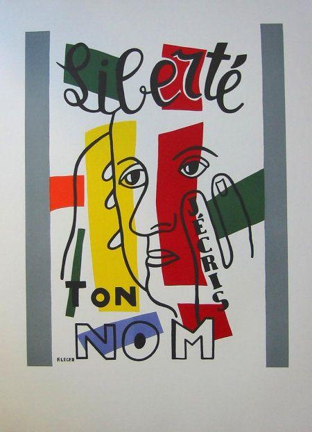 Fernand LEGER : Lithographie : Liberté, j'écris ton nom ۩۞۩۞۩۞۩۞۩۞۩۞۩۞۩۞۩ Gaby Féerie créateur de bijoux à thèmes en modèle unique ; sa.boutique.➜ http://www.alittlemarket.com/boutique/gaby_feerie-132444.html ۩۞۩۞۩۞۩۞۩۞۩۞۩۞۩۞۩