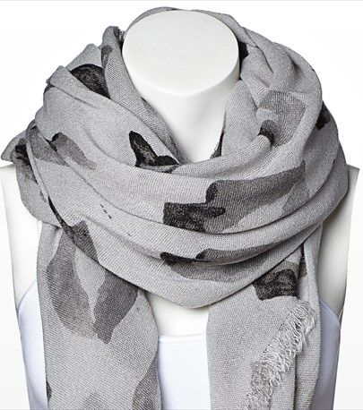 #DYNHOLIDAY Lip sync! This square scarf features a lip print that is fun yet glamorous.