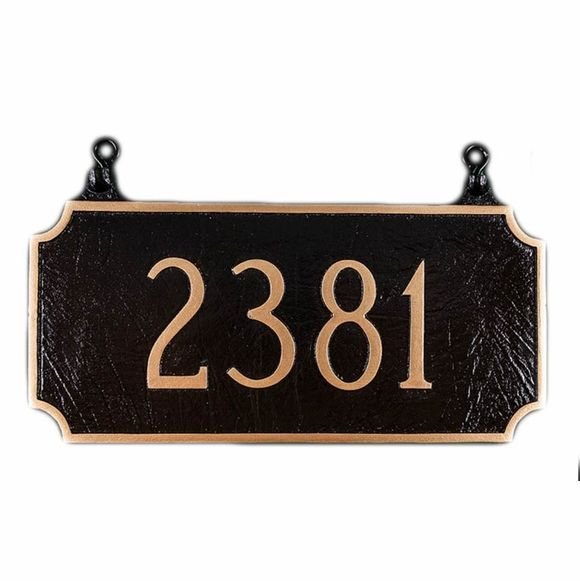 Two Sided Hanging House Number Sign Double Sided Address Plaque House Number Sign Personalized House Number Sign Address Plaque
