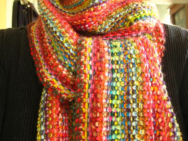 Scrappy Lengthwise Scarf Knitting/ Crochet inspiration ...