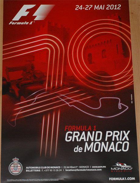 2012 Monaco Grand Prix poster