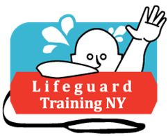 Lifeguard Training NY's logo. We teach lifeguarding, swimming, CPR/AED, First Aid, Emergency Oxygen and its all certified by the American Red Cross.