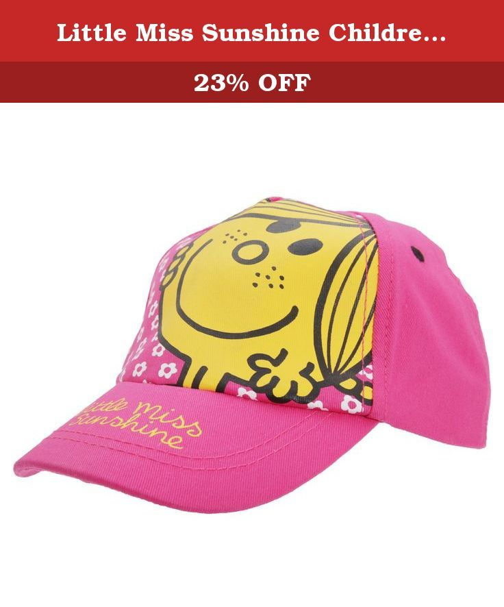 Little Miss Sunshine Childrens Girls Floral Baseball Cap (2-4 Years) (Pink). Little Miss Sunshine girls baseball cap with floral design. Elasticated strap at back for comfort fit. One size: 2-4 years. 100% Cotton. Machine washable.