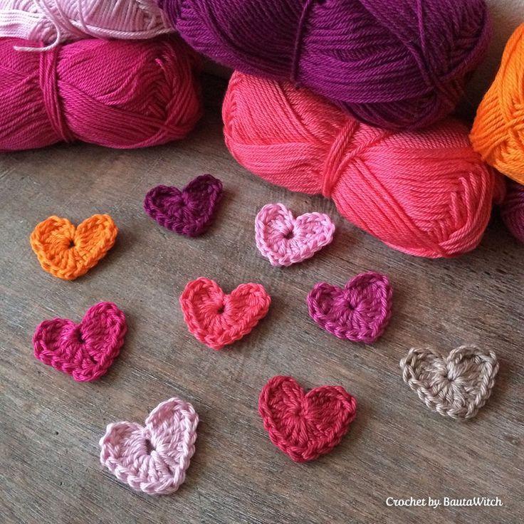DIY - Virka ett hjärta på 5 minuter!  Gratis mönster!
