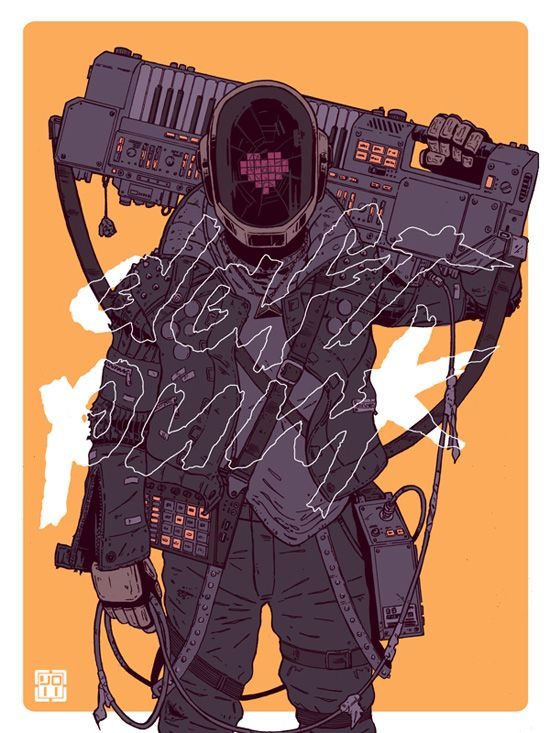 Daft Punk Tribute by Laurie Greasley for Gauntlet Gallery
