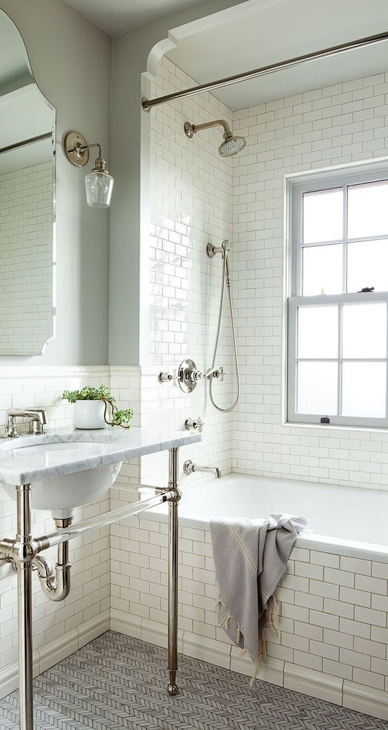 5 Phenomenal Bathroom Tile Combinations: 25+ Best Ideas About White Subway Tiles On Pinterest