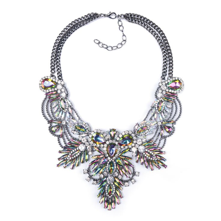 Big Necklace Women 2015 ZA Maxi Necklace Pendants Collier Femme Boho Fashion Choker Collar Female Crystal Statement Accessories