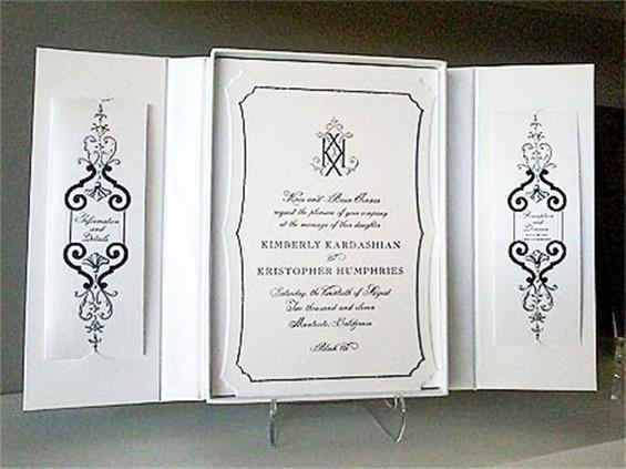 Kim Kardashian Wedding Invitation: 52 Best Images About Black Wedding Invitations On Pinterest