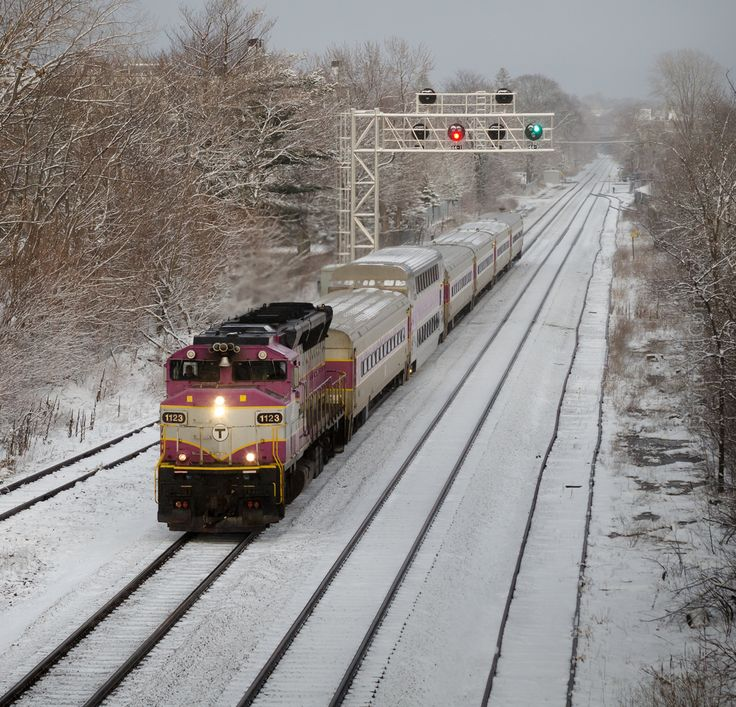 MBTA Fitchburg Line at Alewife | #CambridgeMA