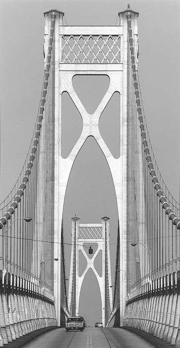 Mid-Hudson Bridge, Poughkeepsie, New York, 1969