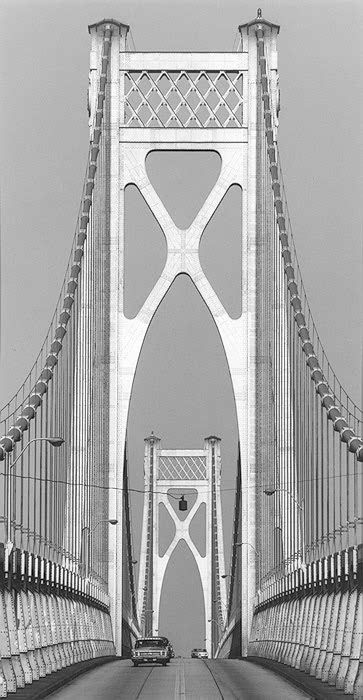 Mid-Hudson Bridge, Poughkeepsie, New York, 1969 by David Plowden