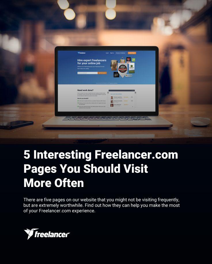 5 Interesting Freelancer.com Pages You Should Visit More Often #freelancer #freelancing #work #onlinejobs #business #smallbusiness #smallbiz #startups #entrepreneurship #freelancertips #freelancingtips