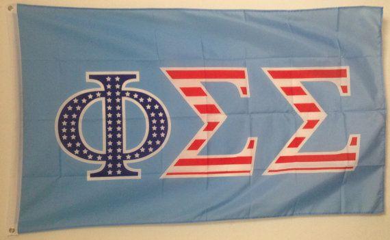 Phi Sigma Sigma USA Letter Flag 3' x 5' NEW by GreekLifeStuff