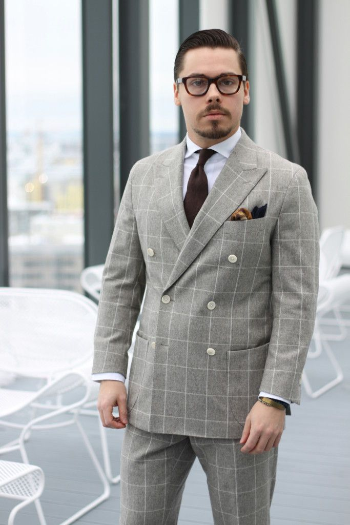 double-breasted-windowpane-suit-with-white-shirt-and-brown-tie