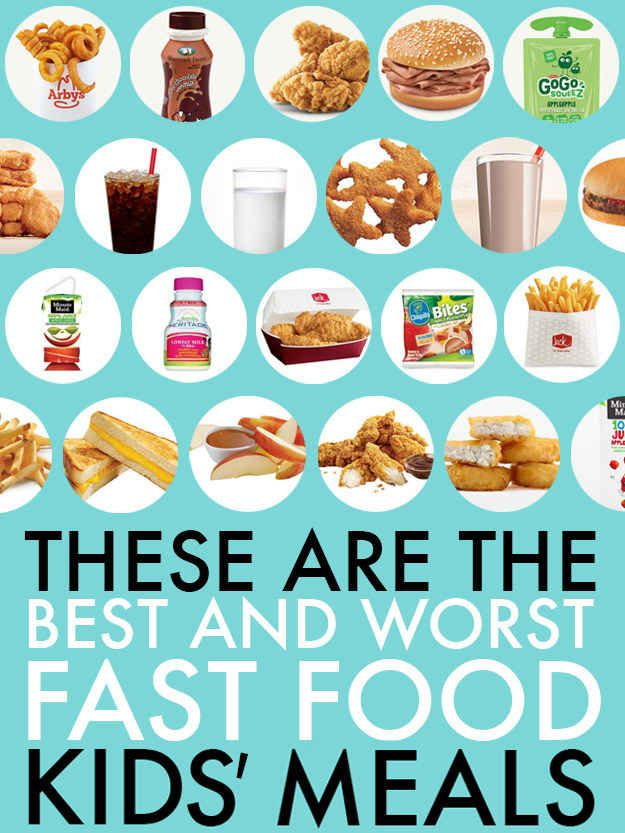 "I don't believe in having kids count calories but instead teaching how to make healthy eating decisions. This is a good visual for the parents to help them lead the discussion! ""These Are The Best And Worst Fast Food Kids' Meals"""