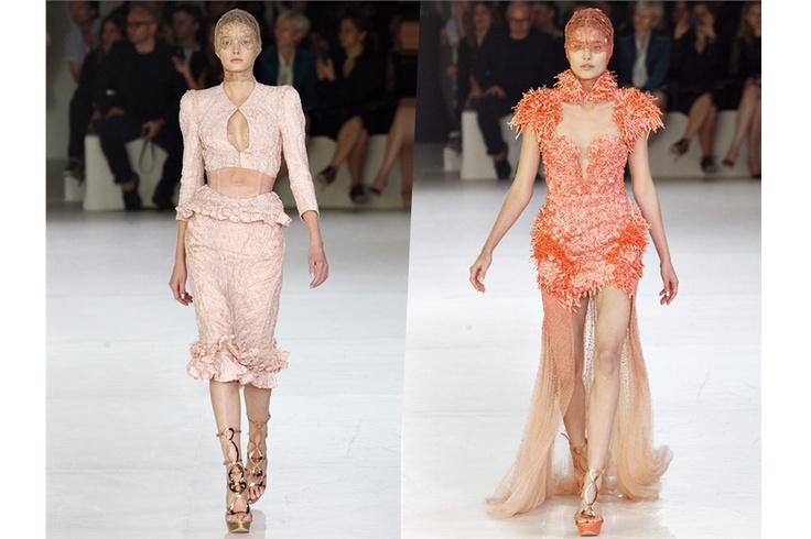 Due creazioni di Sarah Burton per la P/E 2012 di Alexander McQueen