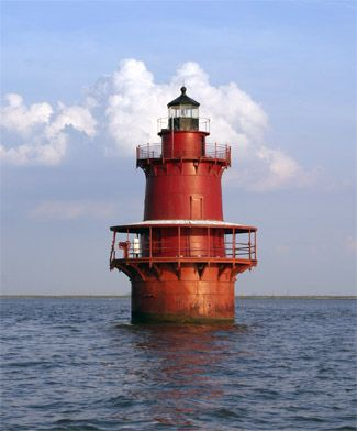 Newport News Middle Ground Lighthouse, Virginia at Lighthousefriends.com