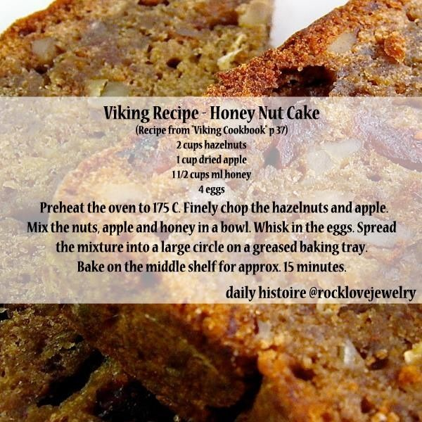 Viking Recipe on RockLove Jewelry's Facebook: Honey Nut Bread