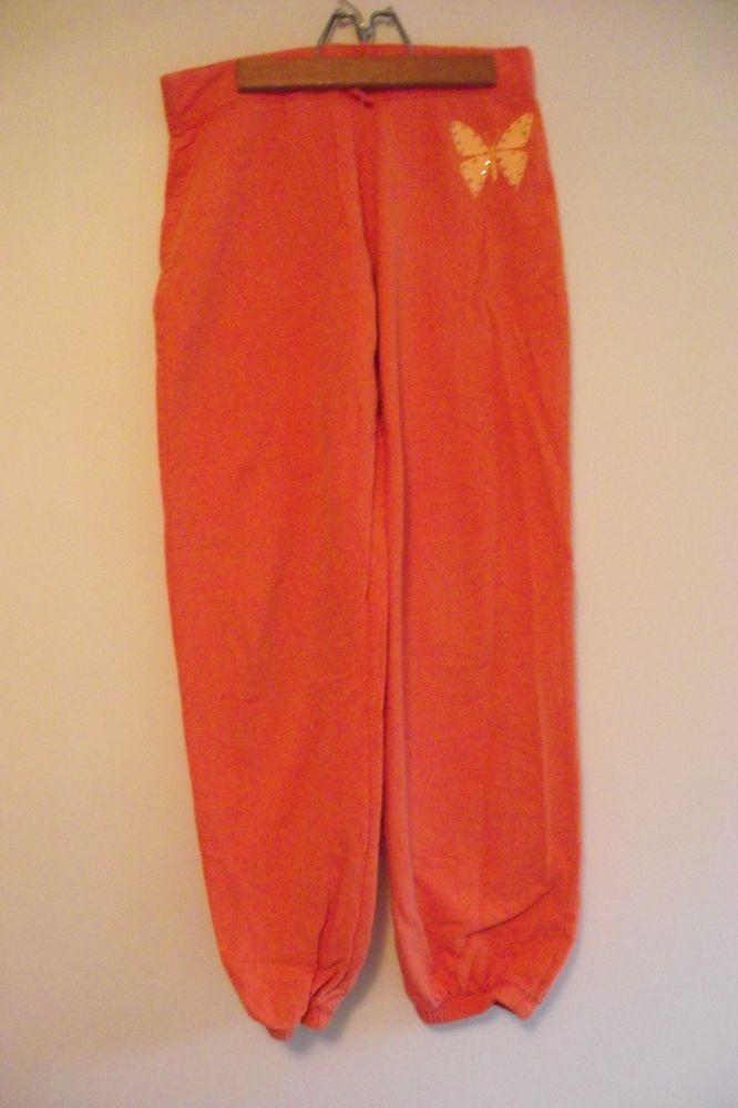 Circo Girls Size XL 14 16 Orange Pants Embellished Butterfly Adjustable WaistRepurposedByRaine
