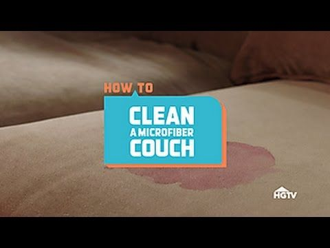 Learn how to clean microfiber upholstery (without creating a water spot) with this easy DIY. Find more great content from HGTV: HGTV YouTube Channel: http://...