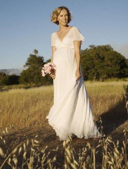 billige brudekjoler|2013 gravide kvinder enkel og afslappet bruden brudekjole HMM0210_billige brudekjoler online shop