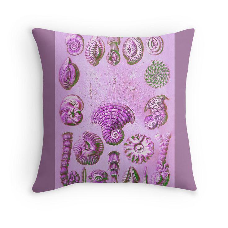 Thalamophora Or Foraminifera In Hot Pink Throw Pillow By