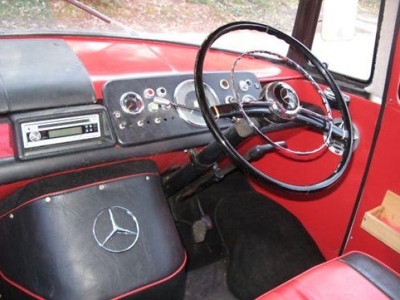 1958 Mercedes Benz 319 Panoramabus Fensterbus Camp Tour Bus For Sale Dash