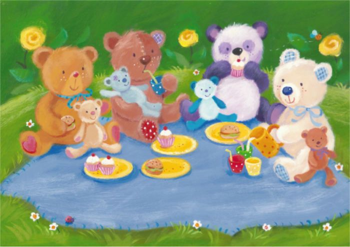 Melanie Mitchell - teddy art, picnic - mel mitchell.jpg