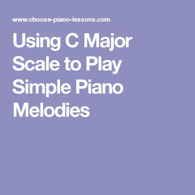 how to play major scale on piano