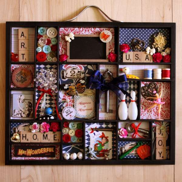 Scrabble letters... Oh my--I LOVE this! I have the letters, the tray, and the embellies... I'm on it!