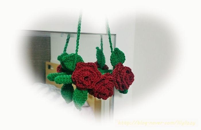 코바늘 끝에서 피어난 새빨간 장미 crochet roses-♡
