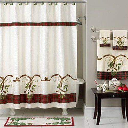 Find This Pin And More On Christmas Shower Curtains Sets.
