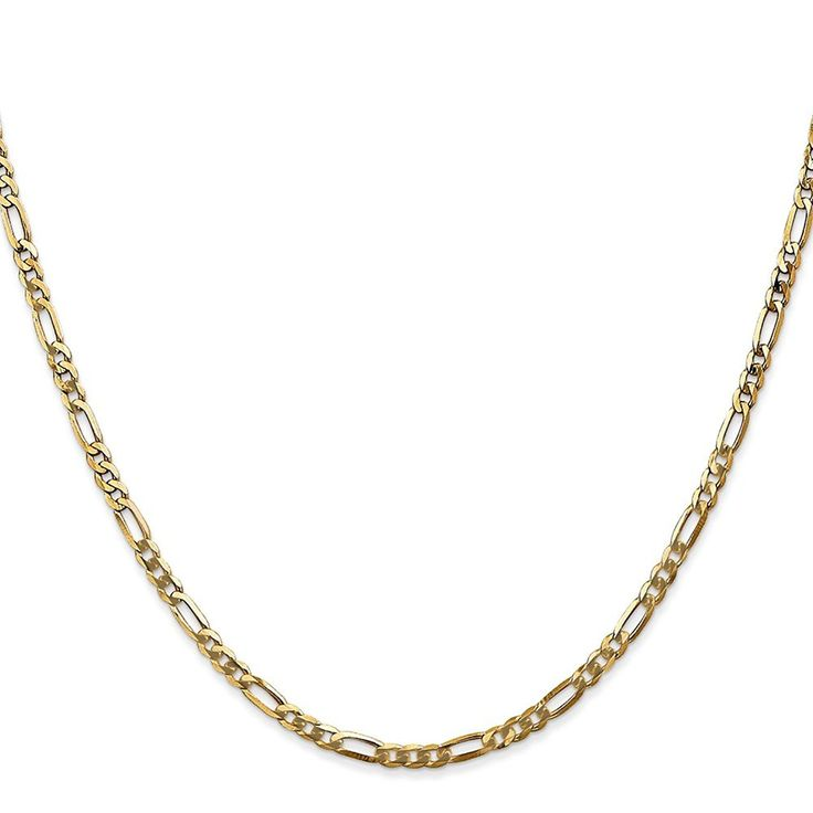 14k Yellow Gold Men's 9in 2.75mm Flat Figaro Anklet ** Check out the image by visiting the link.
