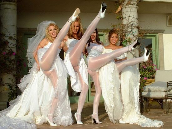 Very hot Wedding pantyhose videos